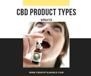 Product Type CBD Sprays