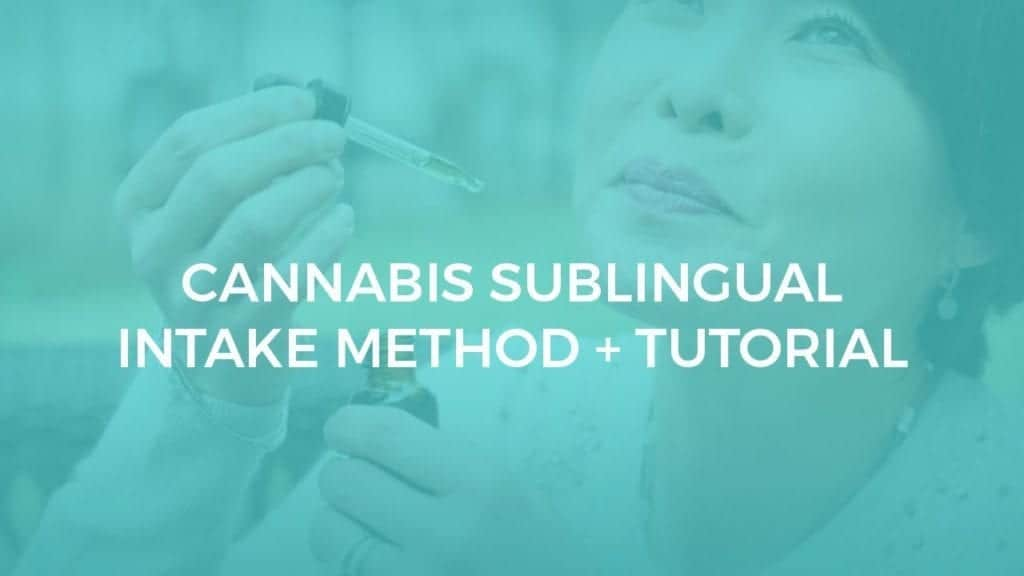 CBD Sublingual Intake Method